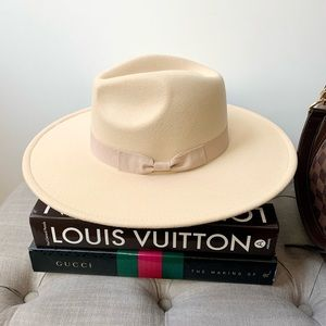 Ivory Rancher Hat with Bow Ribbon Detail